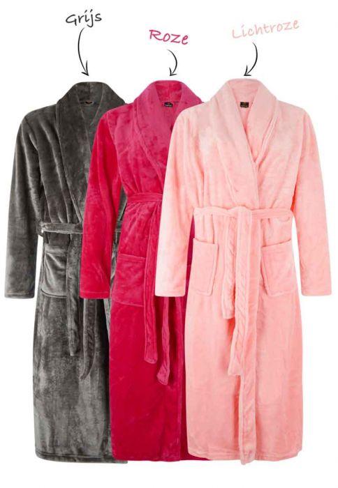 3e54c6da607 Badjas fleece met borduring