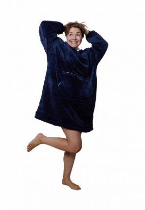 Badrock huggle hoodie fleece – marine