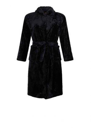 Zwarte fleece badjas tieners