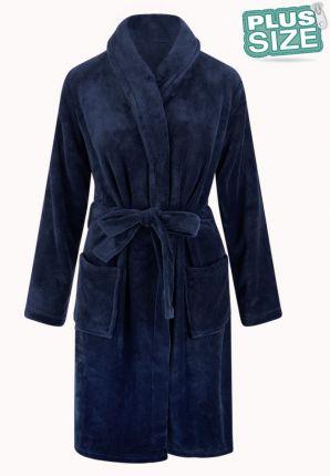 Relax Company grote maten badjas marine - fleece