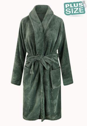 Relax Company grote maten badjas groen - fleece