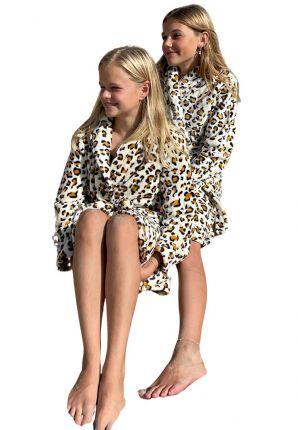 Kinder badjas Tijgerprint
