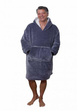 Badrock huggle hoodie fleece – grijs
