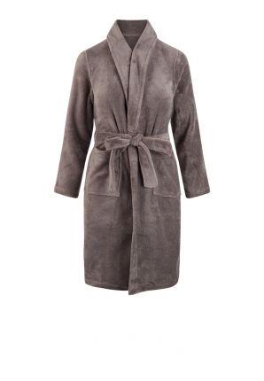 Relax Company badjas kind lichtgrijs - fleece