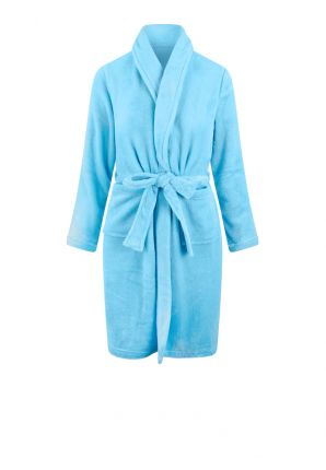 Relax Company badjas kind babyblauw - fleece