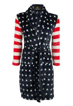 Kinderbadjas met Amerikaanse vlag