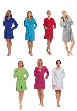 Badjassen met rits - 6 kleuren
