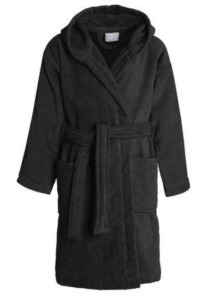 Kinderbadjas zwart velours