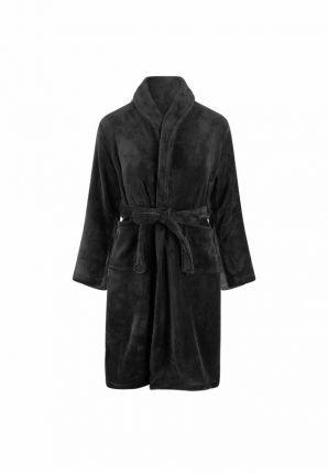 Relax Company badjas kind zwart - fleece