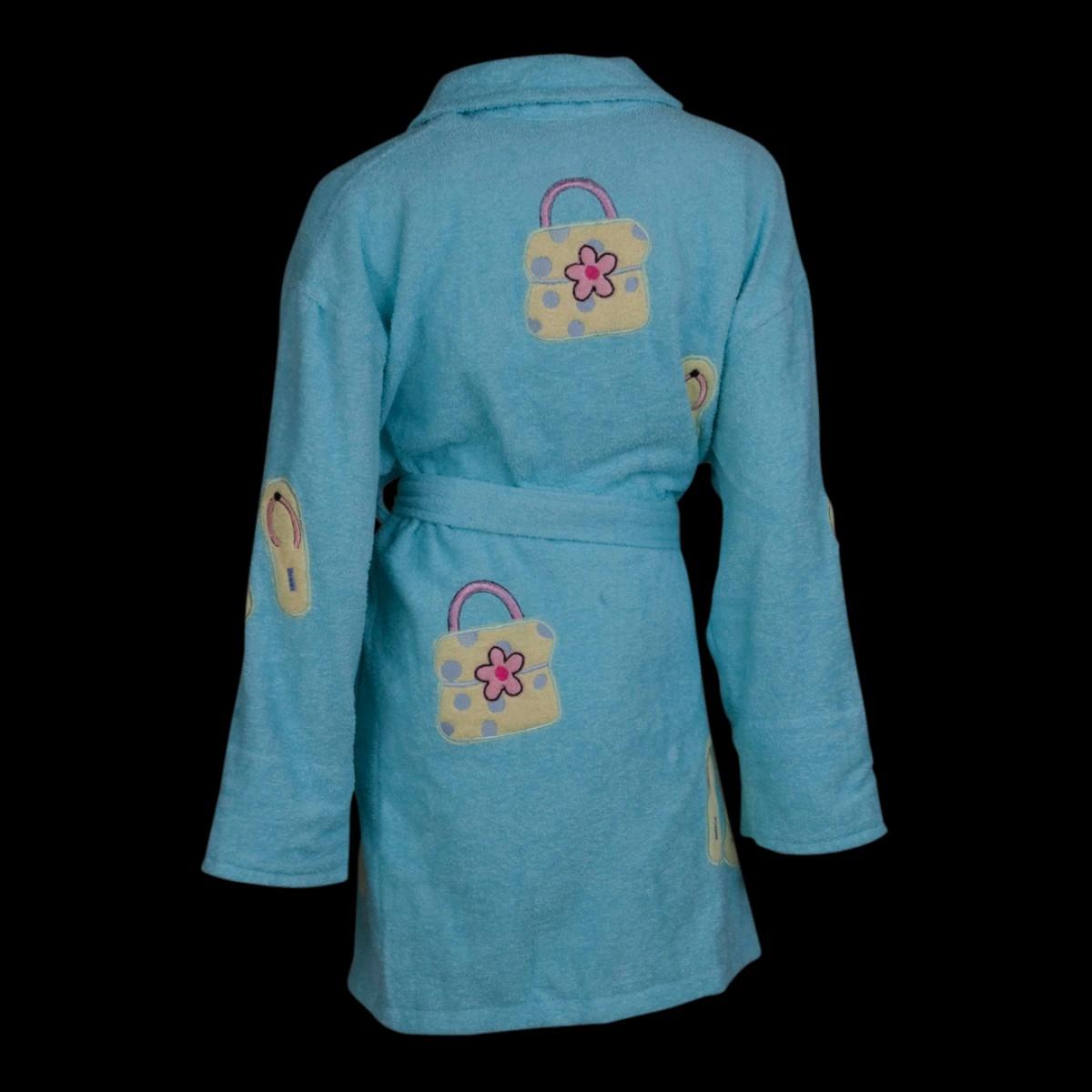 Blauwe dames badjas