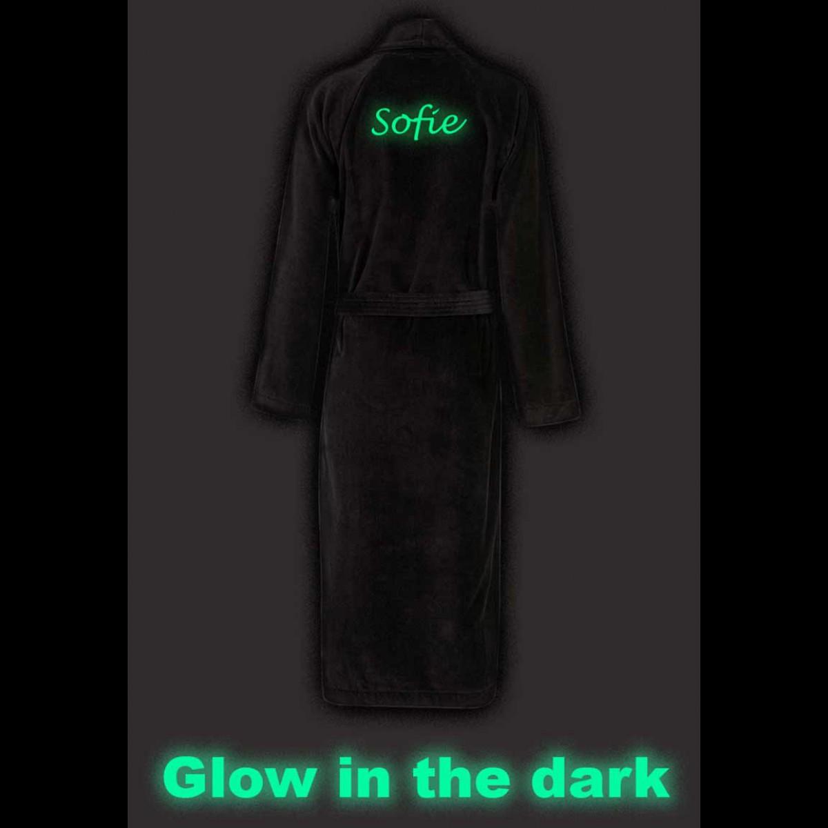 badjas met tekst van naam