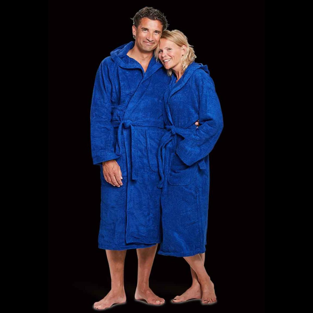 capuchon badjassen kobaltblauw