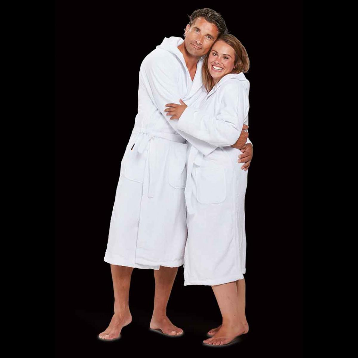 capuchon badjassen wit