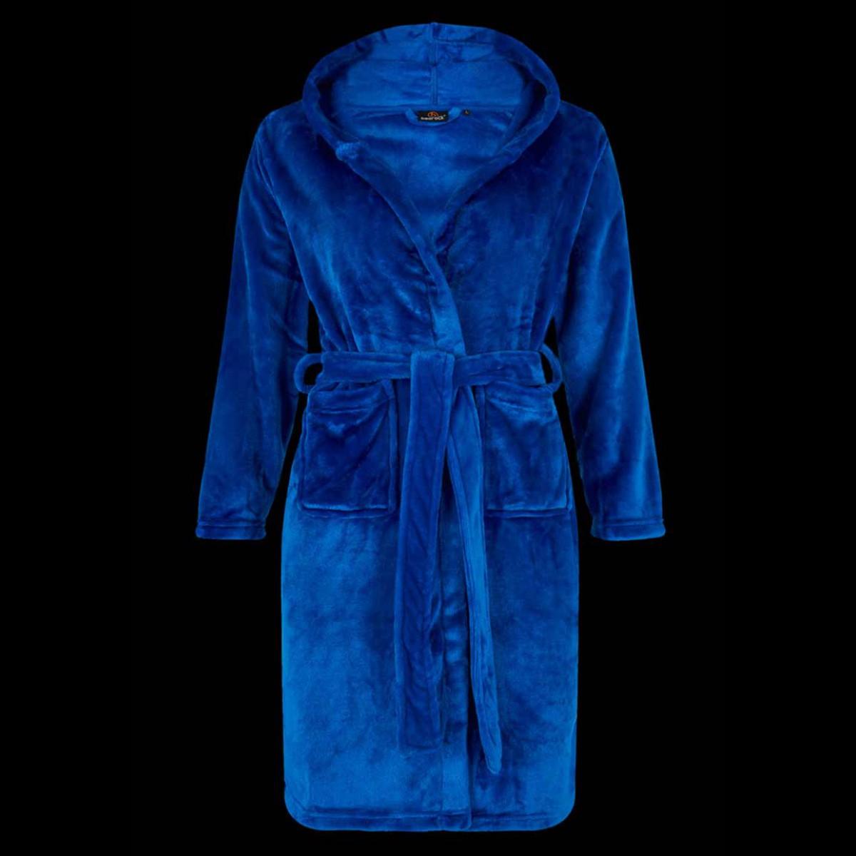 Felblauwe kinderbadjas