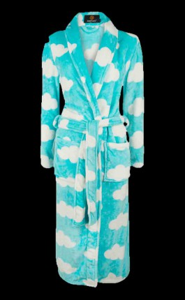 Dames badjas lichtblauw