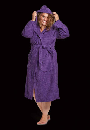 capuchon badjassen paars