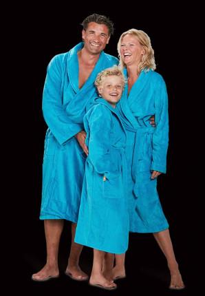 velours katoenen badjas turquoise