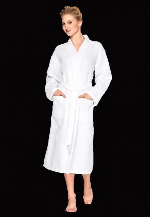 Witte badjas wafelstructuur
