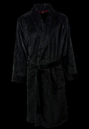zwarte badjas met stans effect