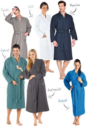 Kimono badjas wafelstof
