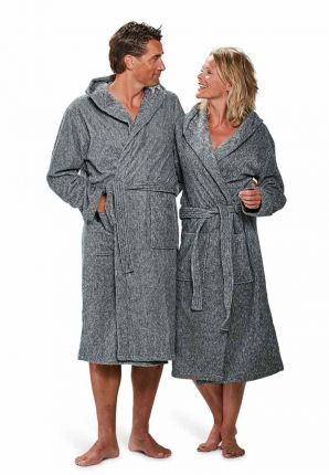 Badjas grijs hooded